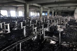 Tazreen Factory after the blaze