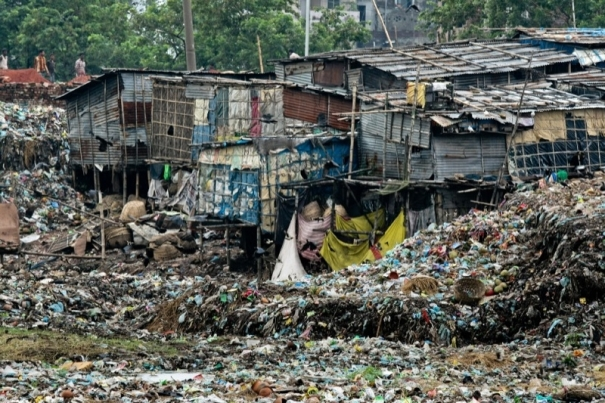 Workers live among toxic tannery waste in Hazaribagh Tannery Area