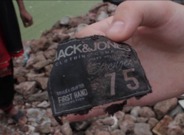 Jack and Jones in the Rana Plaza Rubble