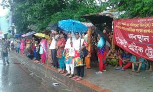 Swan Garment Workers On Their Sit-in-Protest